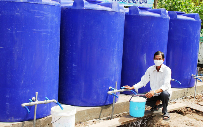 Hàng ngàn hộ dân ở Bạc Liêu và các đảo Tây Nam vui mừng đón nước ngọt - Ảnh 3.