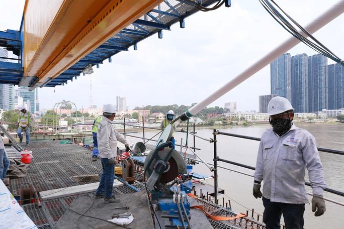 Nhìn từ trên cao, công trình cầu Thủ Thiêm 2 ở TP HCM hiện thế nào? - Ảnh 6.
