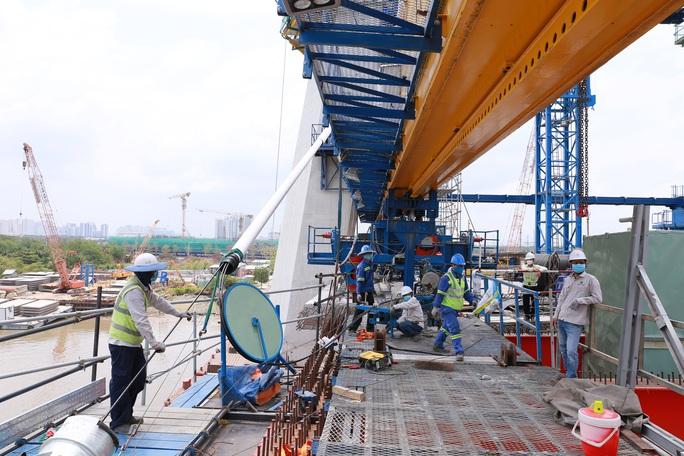 Nhìn từ trên cao, công trình cầu Thủ Thiêm 2 ở TP HCM hiện thế nào? - Ảnh 7.