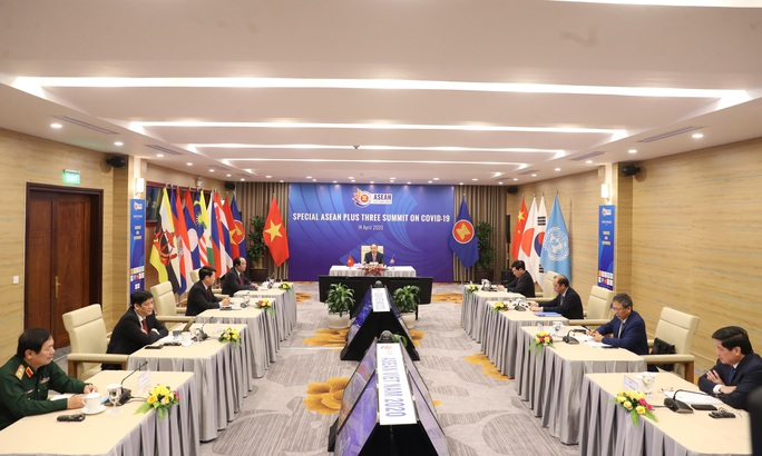 Trung Quốc, Nhật Bản, Hàn Quốc cùng ASEAN bàn ứng phó dịch bệnh, phục hồi kinh tế - Ảnh 1.