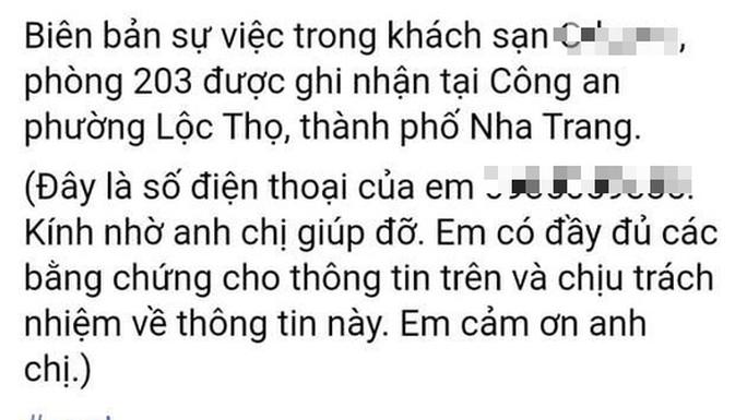 Xác minh thông tin một CSGT Nha Trang gạ tình người vi phạm - Ảnh 2.