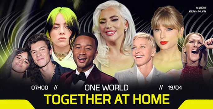 100 ngôi sao thế giới cùng hòa nhạc online - Ảnh 1.