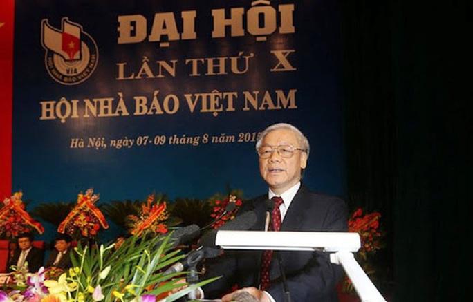 Tổng Bí thư, Chủ tịch nước chúc mừng 70 năm thành lập Hội Nhà báo Việt Nam - Ảnh 1.