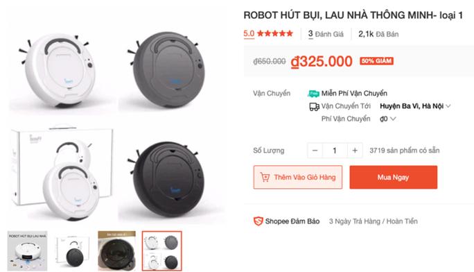 Chiêu lừa robot hút bụi mini giá rẻ - Ảnh 2.