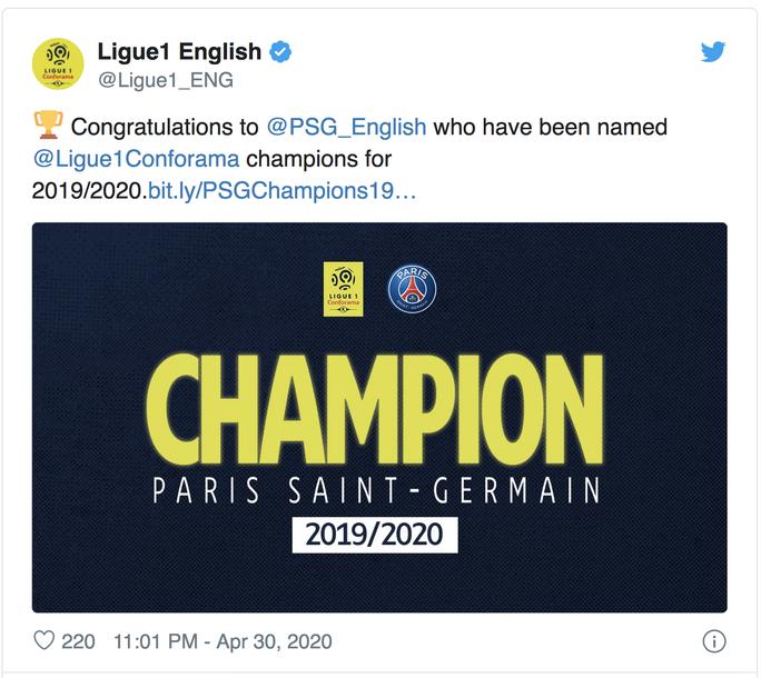 PSG được trao chức vô địch Pháp, ông bầu chờ ra tòa - Ảnh 1.