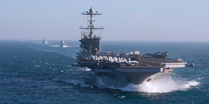 Tung đồng loạt 6 tàu sân bay, Mỹ cảnh báo đừng lầm tưởng đánh bại được Mỹ - Ảnh 1.