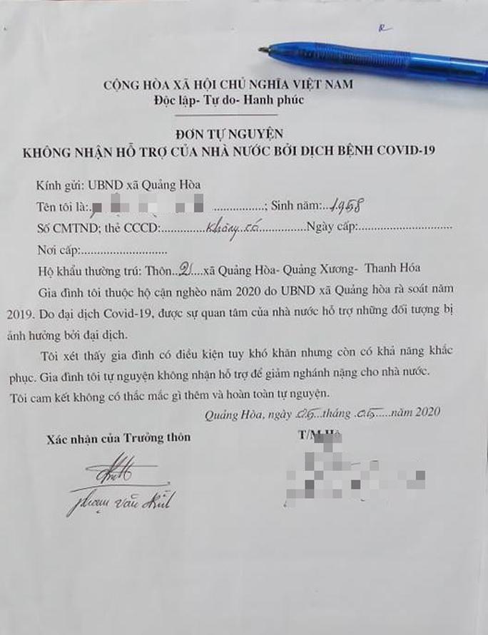 Thanh Hóa yêu cầu tuyệt đối không được vận động người dân từ chối nhận hỗ trợ khó khăn do Covid-19 - Ảnh 1.