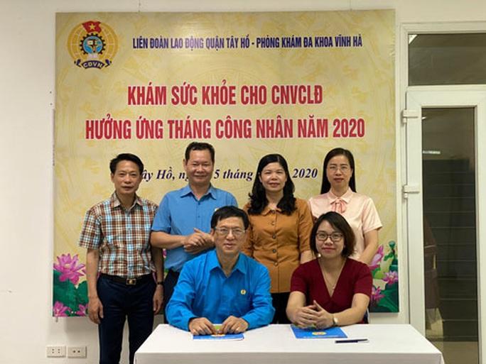 Hà Nội: Khám sức khỏe miễn phí cho gần 1.000 đoàn viên - Ảnh 1.