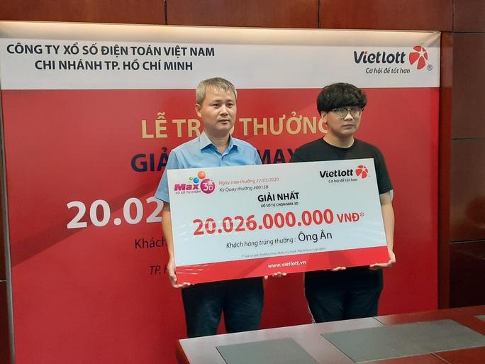 Một sinh viên nhận giải Vietlott hơn 20 tỉ đồng, không cần đeo mặt nạ - Ảnh 1.