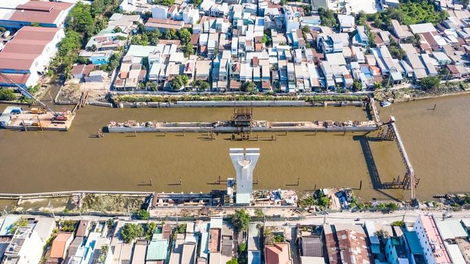 Công trình chống ngập 10.000 tỉ ở TP HCM nhìn từ trên cao - Ảnh 4.