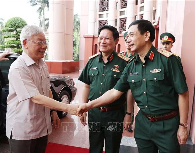 Chùm ảnh Tổng Bí thư, Chủ tịch nước Nguyễn Phú Trọng chủ trì Hội nghị Quân ủy Trung ương - Ảnh 1.