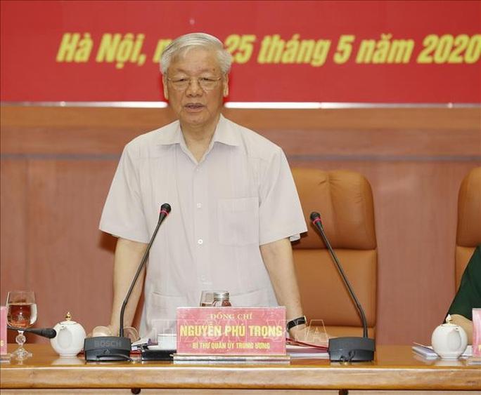 Chùm ảnh Tổng Bí thư, Chủ tịch nước Nguyễn Phú Trọng chủ trì Hội nghị Quân ủy Trung ương - Ảnh 5.