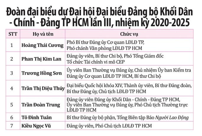 Ban Chấp hành Đảng bộ Cơ quan LĐLĐ TP HCM khóa XVI, nhiệm kỳ 2020-2025 - Ảnh 3.
