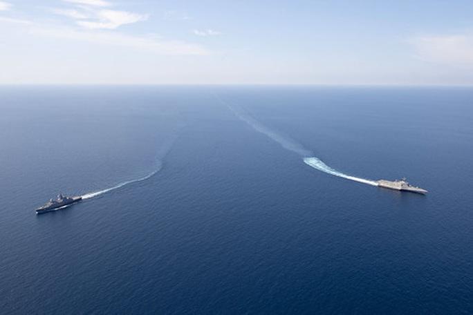 Mỹ-Singapore tập trận trên biển Đông - Ảnh 2.