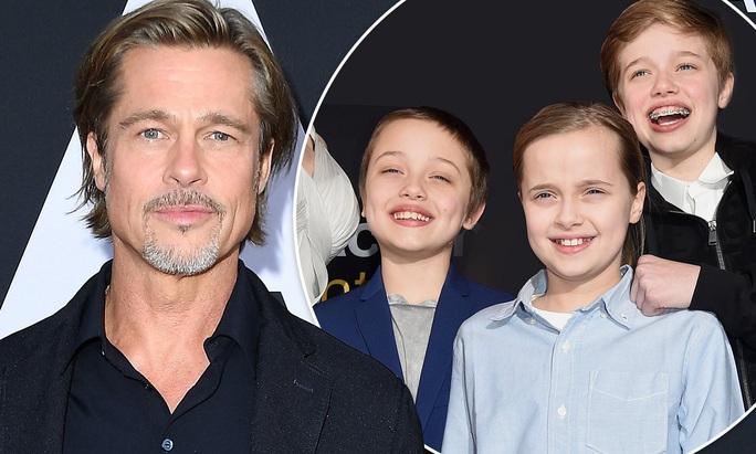 Brad Pitt tụ hội Pax Thiên và các con  - Ảnh 2.