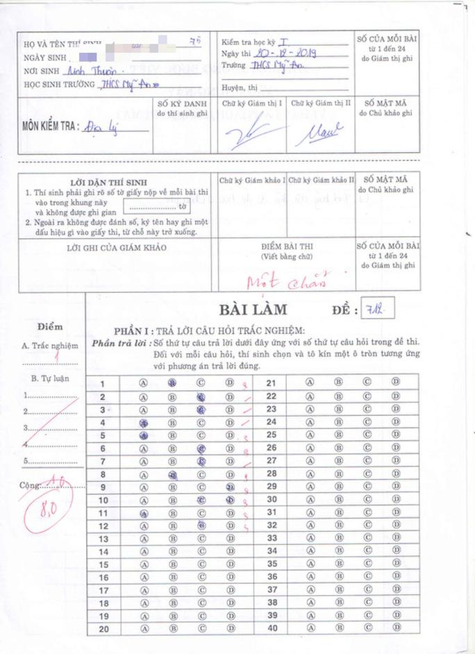Vụ 166 bài thi môn Địa lý được nâng điểm: Cho kiểm tra lại - Ảnh 1.