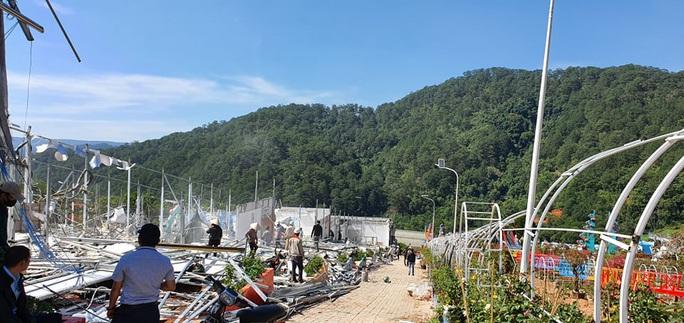 Cận cảnh tháo dỡ Khu du lịch Vườn thượng uyển bay chui ngay cửa ngõ Đà Lạt - Ảnh 3.