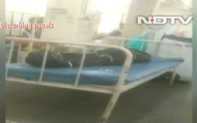 Video sốc: Bệnh nhân Covid-19 được chữa trị cạnh các thi thể - Ảnh 1.