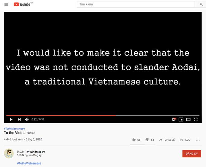 Xin lỗi vì mặc áo dài không quần, nữ YouTuber Hàn Quốc vẫn bị ném đá - Ảnh 2.