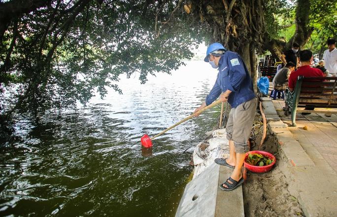 CLIP: Cảnh chuyên gia soi chất lượng, thẩm mỹ việc tôn tạo bờ kè hồ Gươm - Ảnh 4.