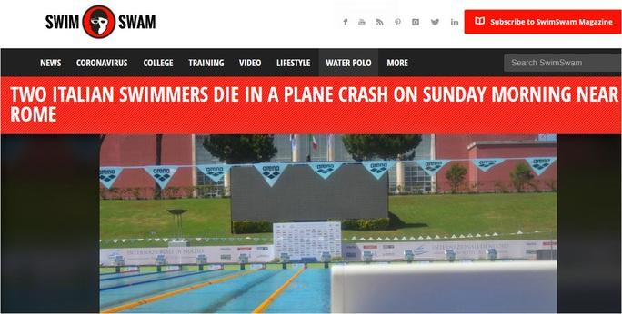 Hai tay bơi Ý thiệt mạng vì tai nạn máy bay - Ảnh 1.