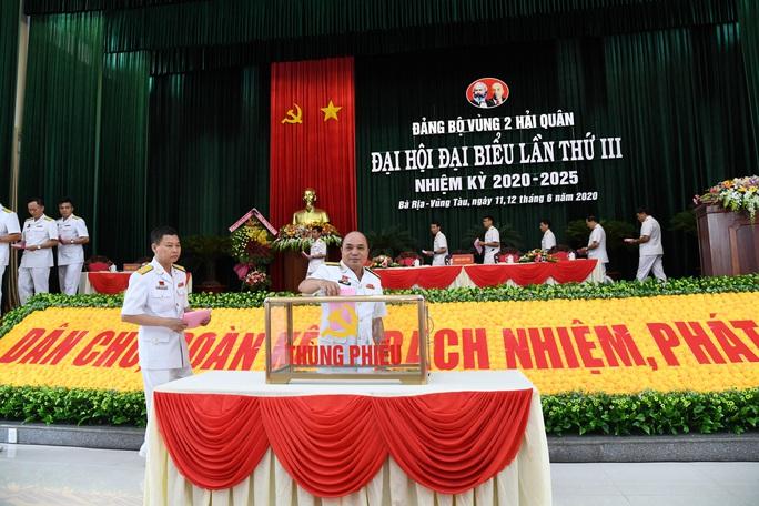 Bế mạc Đại hội đại biểu Đảng bộ Vùng 2 Hải quân  - Ảnh 1.