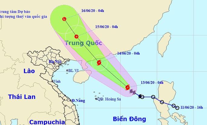 Xuất hiện cơn bão đầu tiên ở Biển Đông trong năm 2020 - Ảnh 1.
