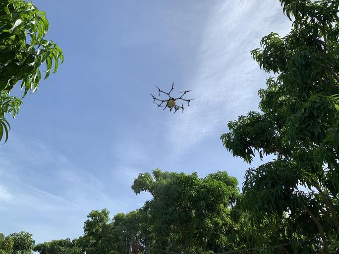 Người dân thích thú khi lần đầu tiên Khánh Hòa dùng máy bay phun phân bón - Ảnh 7.