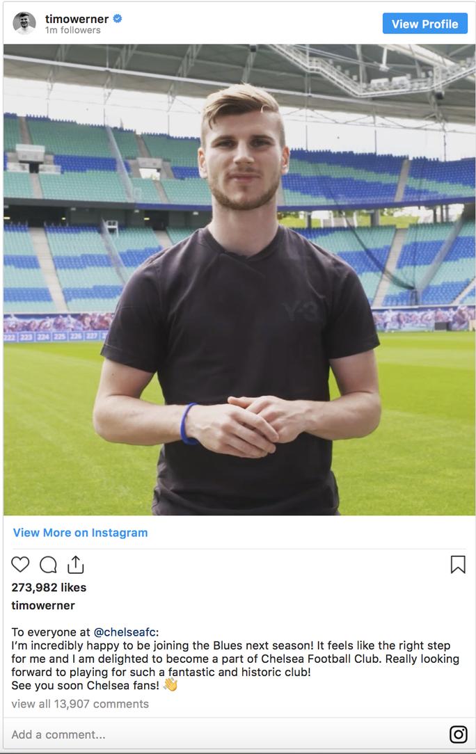 Chelsea công bố sốc hợp đồng bom tấn Timo Werner - Ảnh 3.