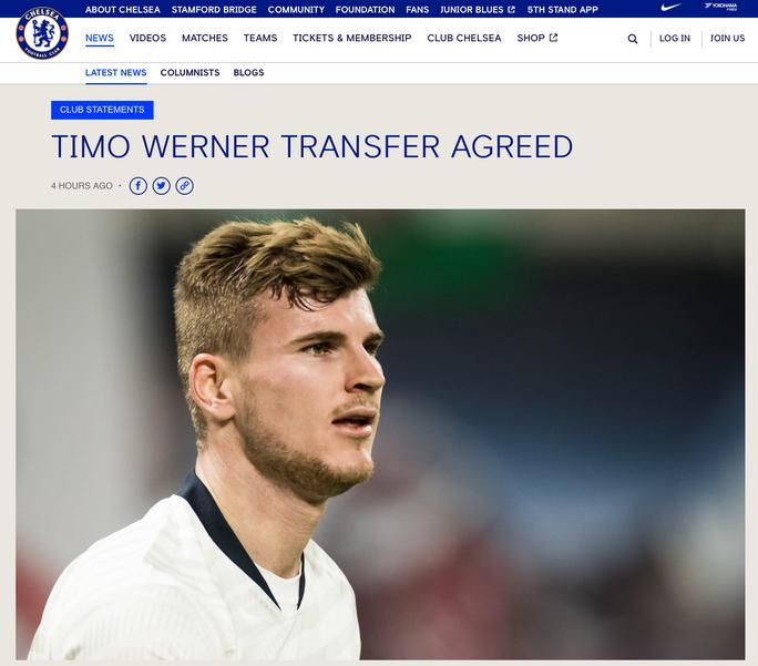 Chelsea công bố sốc hợp đồng bom tấn Timo Werner - Ảnh 2.