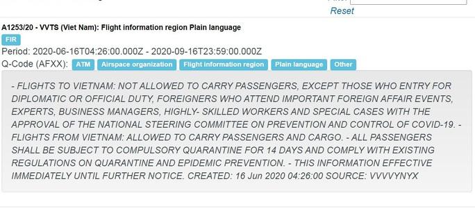 Việt Nam khó có khả năng bay thương mại quốc tế trước ngày 16-9? - Ảnh 1.