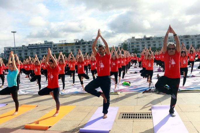 Gần 3.000 người tham gia ngày Quốc tế Yoga - Ảnh 1.