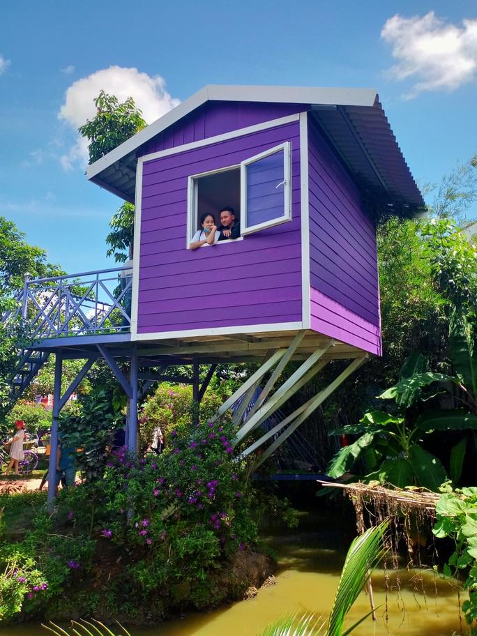 """CLIP: Căn nhà màu tím ở Cần Thơ """"đốn tim"""" du khách - Ảnh 30."""