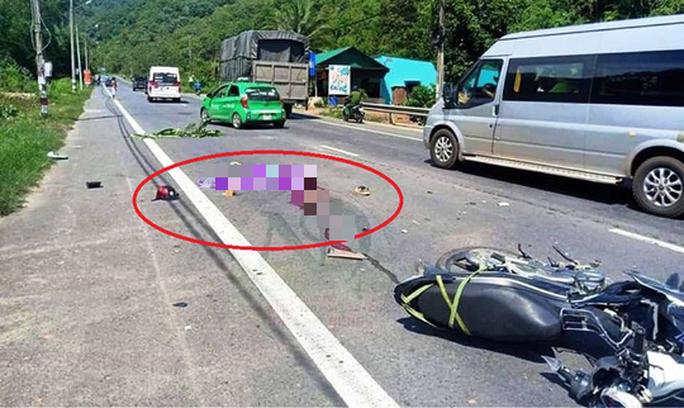 Tai nạn giữa xe tải và xe máy, 1 người chết tại chỗ - Ảnh 2.