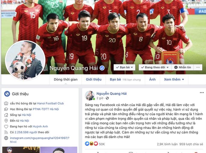 Facebook bị hack, lộ nhiều chuyện riêng tư, Quang Hải cầu cứu an ninh mạng - Ảnh 2.