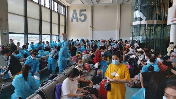 Sân bay Tân Sơn Nhất đón 343 người Việt bị mắc kẹt do dịch Covid-19 từ Đài Loan về nước - Ảnh 1.