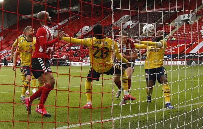 Arsenal hạ gục Sheffield, hẹn Man City ở bán kết FA Cup - Ảnh 1.