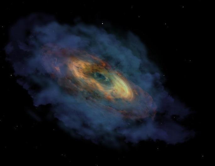 Kinh dị siêu quái vật vũ trụ có trái tim lớn gấp 1,5 tỉ Mặt Trời - Ảnh 1.