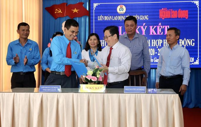 Báo Người Lao Động ký kết hợp tác với LĐLĐ tỉnh Tiền Giang - Ảnh 7.