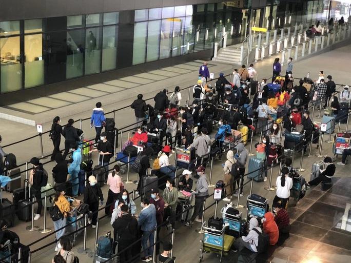 Gần 340 người Việt từ Anh về nước tại sân bay Tân Sơn Nhất - Ảnh 2.