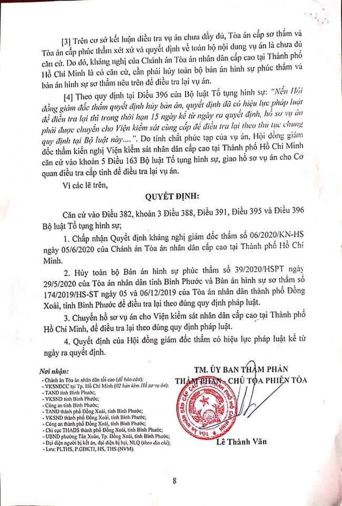 Vụ bị cáo  nhảy lầu tự tử tại TAND tỉnh Bình Phước: Hủy án sơ thẩm, phúc thẩm để điều tra lại - Ảnh 2.