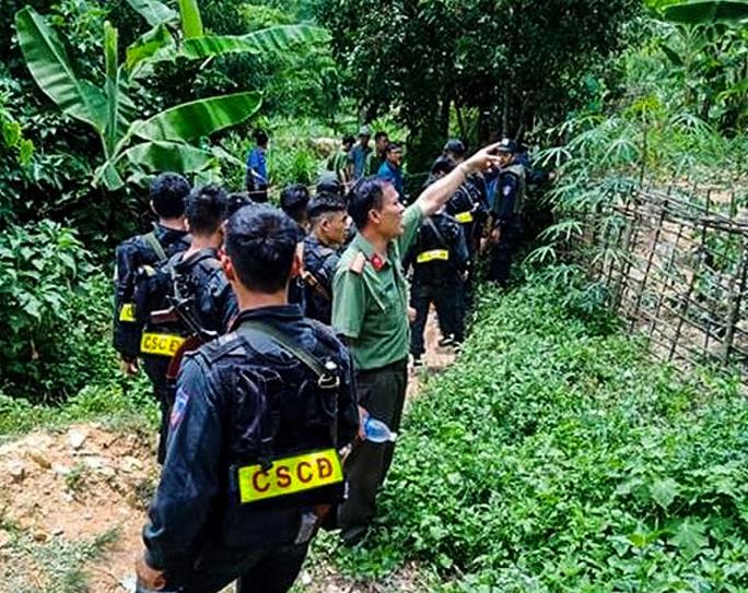 Bắt được nghi phạm đánh chết hàng xóm, bỏ trốn vào rừng - Ảnh 2.