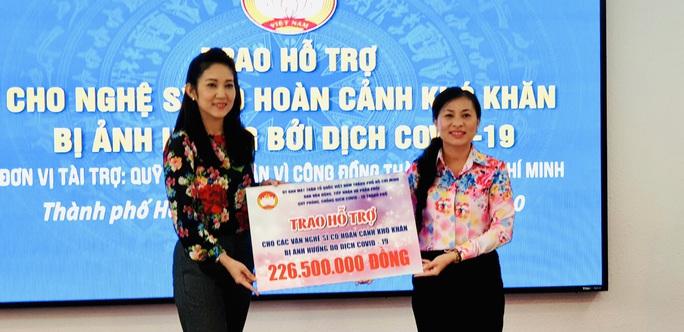 NSƯT Thanh Nguyệt xúc động nhận quà hỗ trợ dịch bệnh Covid-19 - Ảnh 9.