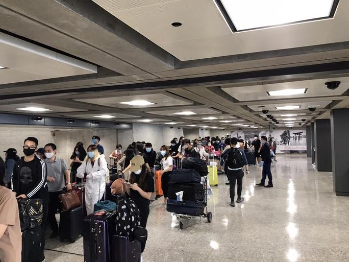 346 người Việt từ Mỹ về nước tại sân bay Nội Bài - Ảnh 4.