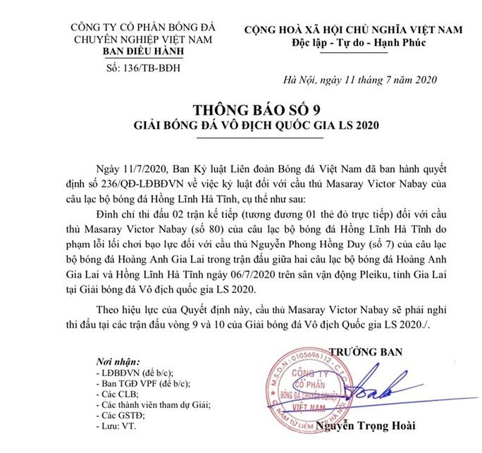 Trước trận gặp SLNA,  Hồng Lĩnh Hà Tĩnh choáng váng vì VPF treo giò ngoại binh - Ảnh 2.