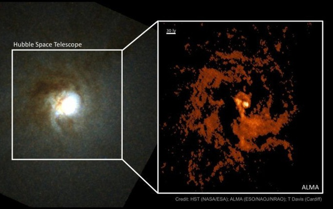 Phát hiện thiên hà ma quái mang trái tim kho báu 550.000 Mặt Trời - Ảnh 1.