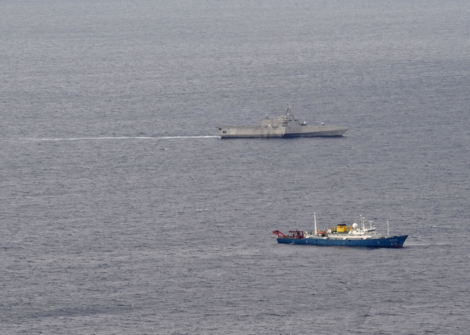 Tàu chiến Mỹ theo sát tàu khảo sát địa chất Trung Quốc ở biển Đông - Ảnh 3.