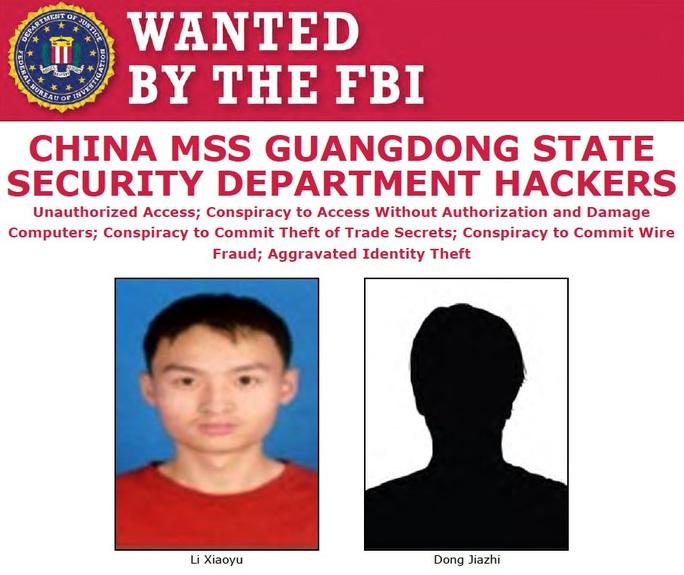 Truy nã 2 tin tặc, Mỹ tăng sức ép với Trung Quốc - Ảnh 1.