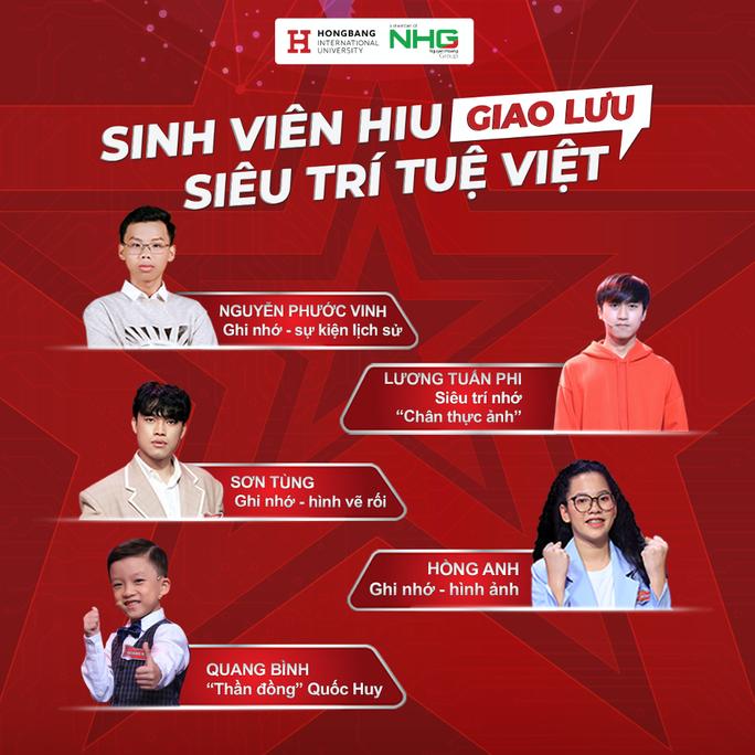Biệt đội siêu trí tuệ Việt giao lưu cùng học sinh, sinh viên - Ảnh 1.