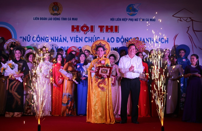 Phạm Ngọc Cầm đăng quang nữ công nhân, viên chức thanh lịch  - Ảnh 13.